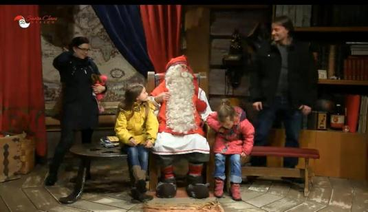 Father Christmas live streaming Santa Web Cam Lapland North Pole