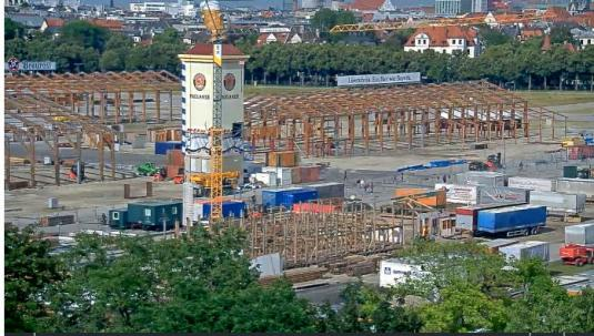 Oktoberfest 2016 Munich Beer Fest Construction Webcam Munich Germany