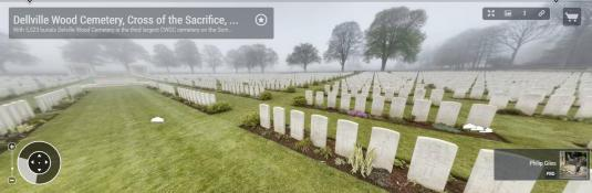 Battle of the Somme Delville Wood Cemetery 360 Panorama Cam Views France